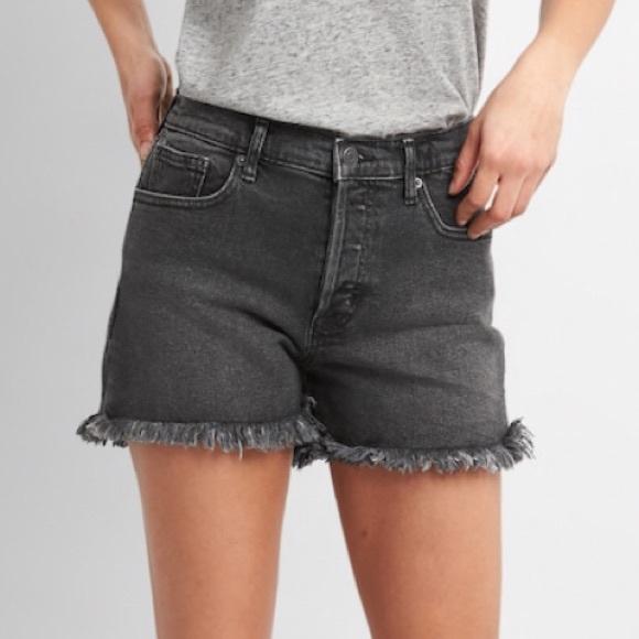e1605bc69d GAP Shorts | Brand New Raw Edge Black Denim 31 Tall | Poshmark